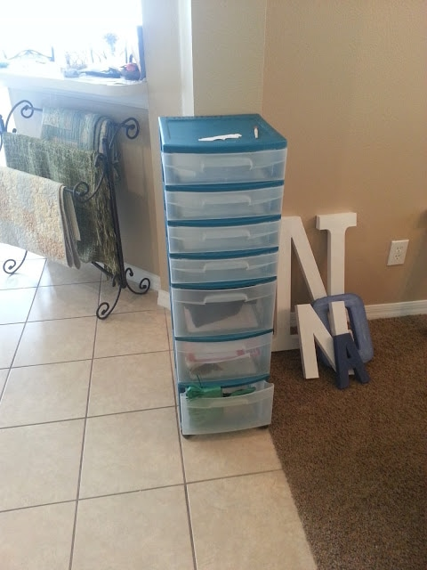 weekly storage unit for lesson plans.