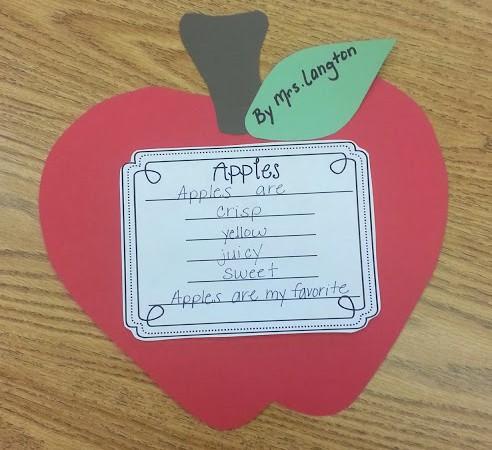 Apples Poem Craftvitiy!