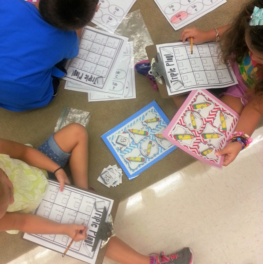 math center tub activities