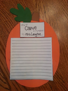 How to Carve a Pumpkin craft activity. Perfect for expository writing around Halloween