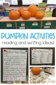 Pumpkin Reading and Writing activities. Love these engaging ideas for incorporating pumpkins into your lessons.