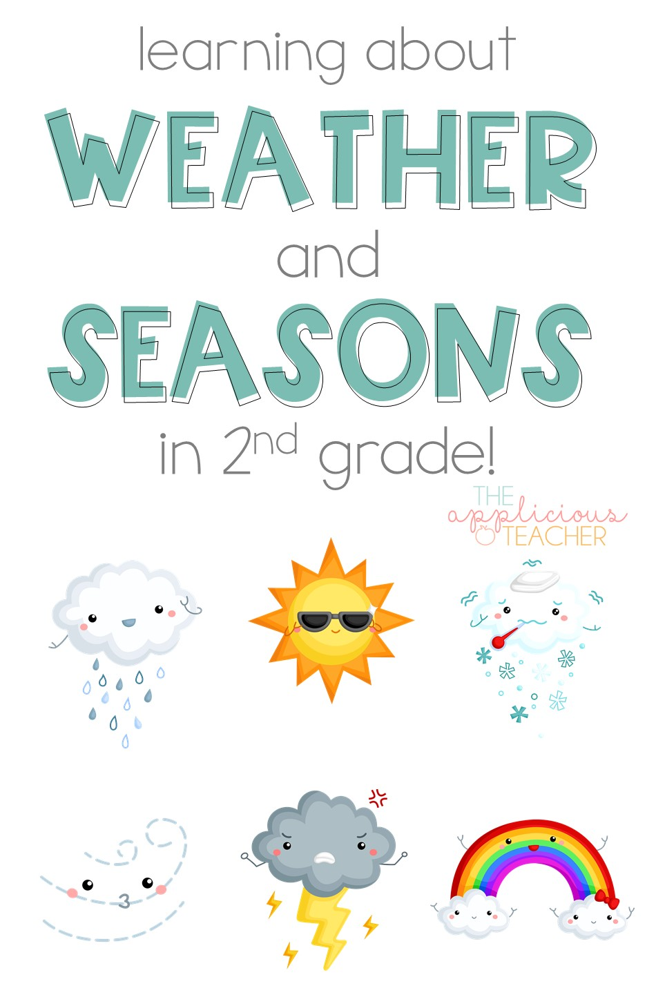learning about weather and seasons in 2nd grade. Great post with so many great activities for teaching weather and the seasons in 2nd grade