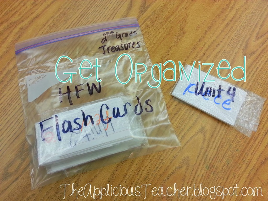 Organize your sight word cards by unit or grade level.