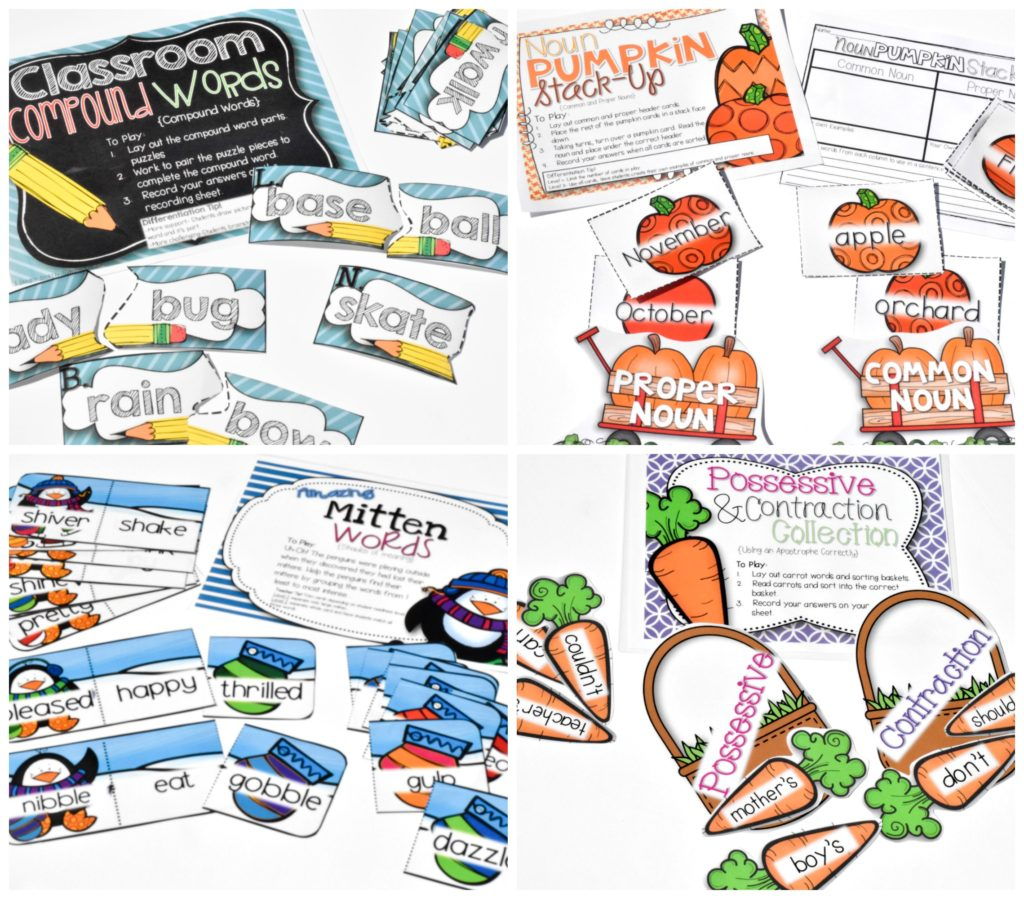 Small Group in 2nd Grade- Center activities that you can use all year for 2nd grade-The Applicious Teacher