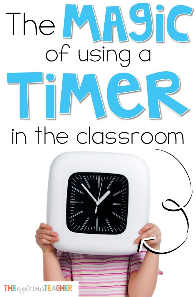 Oh the magic of a timer in your classroom. Love this classroom management trick for cleaning up transitions, speeding up activities, and wrangling lines!