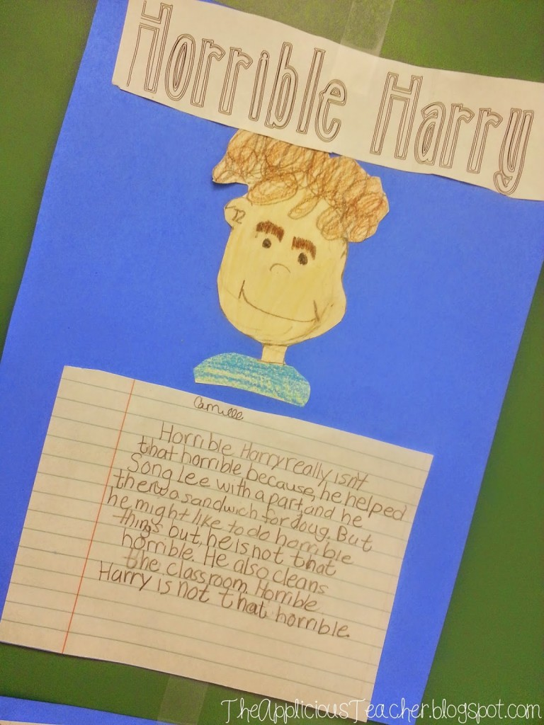 horrible harry writing activity