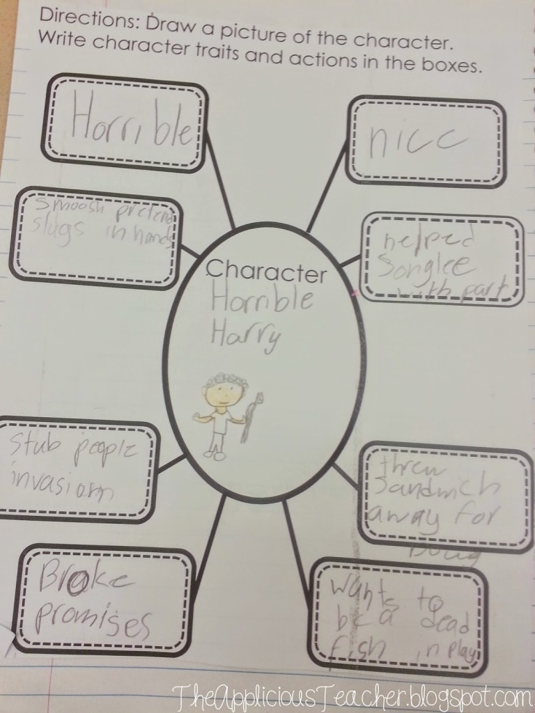 character traits bubble map freebie