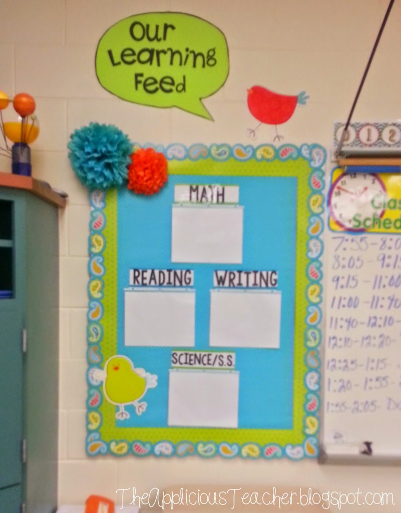 objective board bulletin board for standards