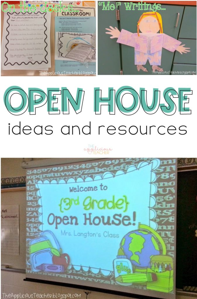 Open House ideas and tons of free resources. TheAppliciousTeacher.com