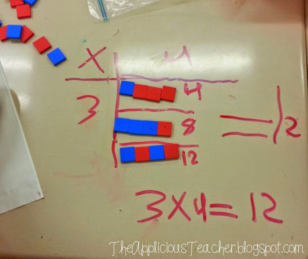 example of using array to teach multiplication