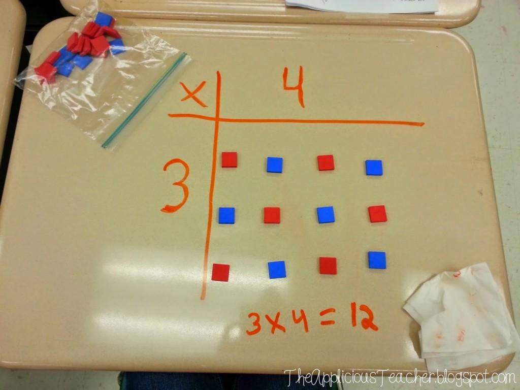 building an array using manipulative