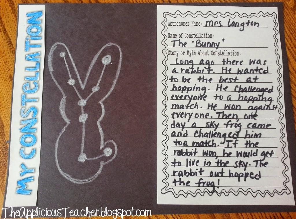 constellation writing craftivity