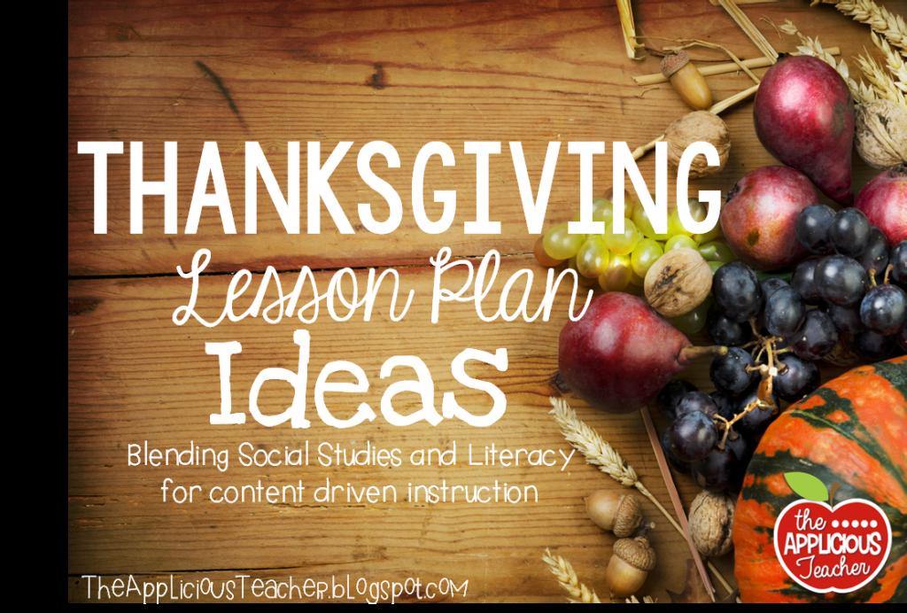 Thanksgiving lesson plan ideas for 3rd grade