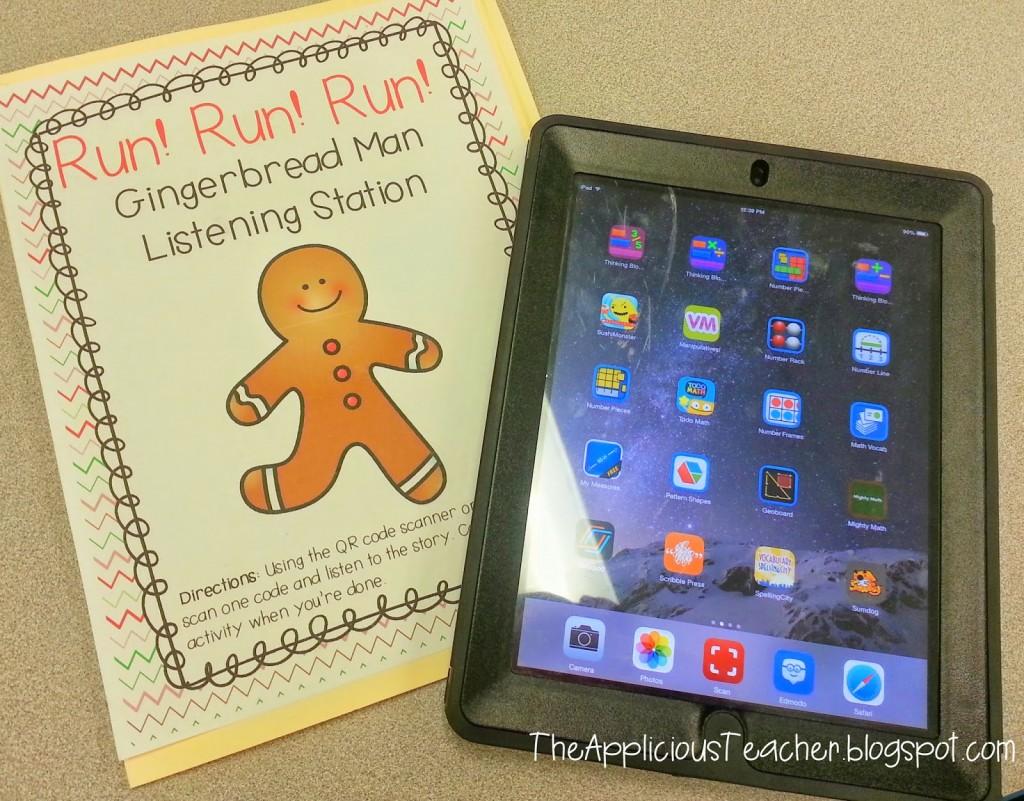 The Gingerbread Man QR code center