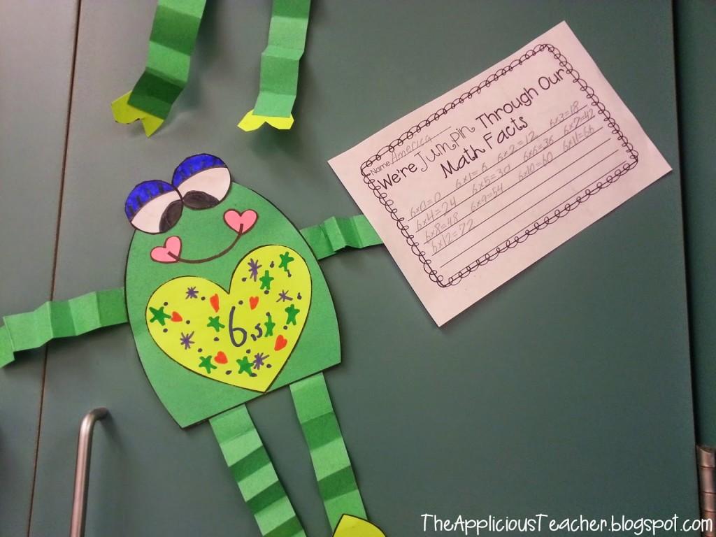 frog math craft