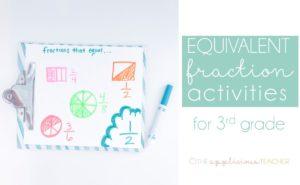 equivelant fractions in 3rd grade