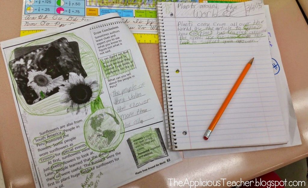 using evidence to respond to text