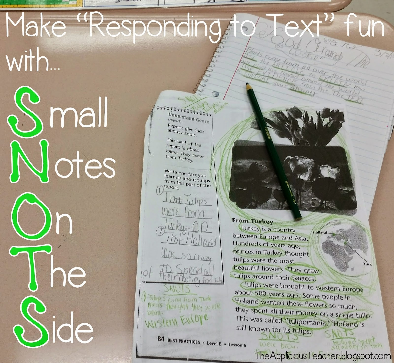 Boogieing Up Your Responding To Text With Snots  The Applicious Teacher