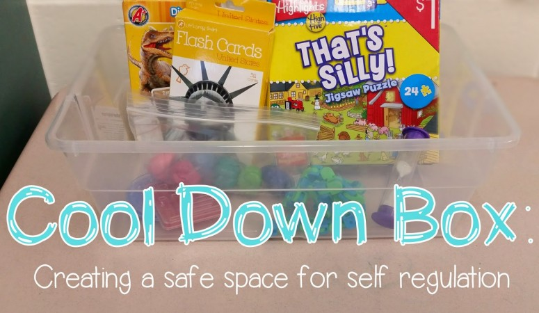 Using a Cool Down Box: Helping students Self Regulate and Reflect