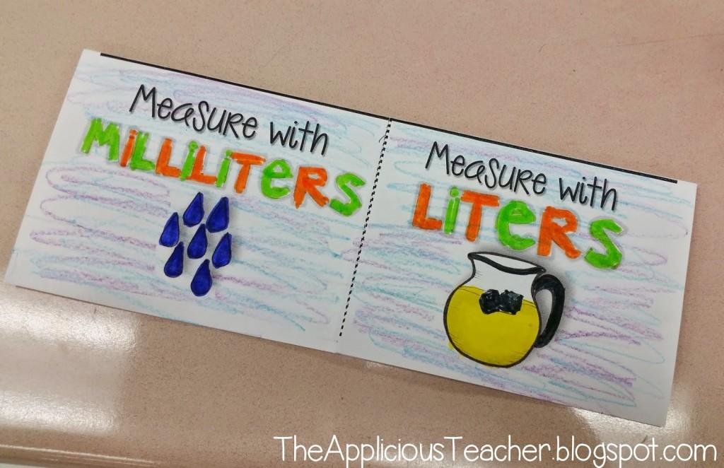 milliliters or liters flipbook