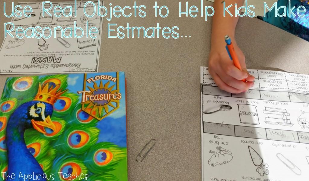 reasonable estimates for grams and kilograms