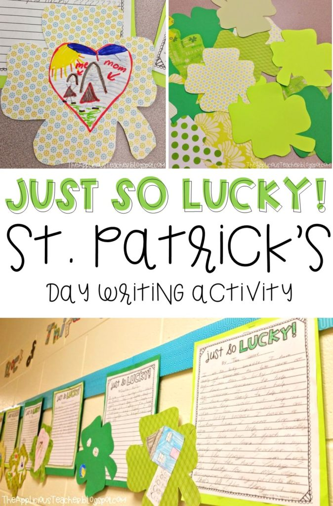 Just so lucky writing activity for St Patricks Day