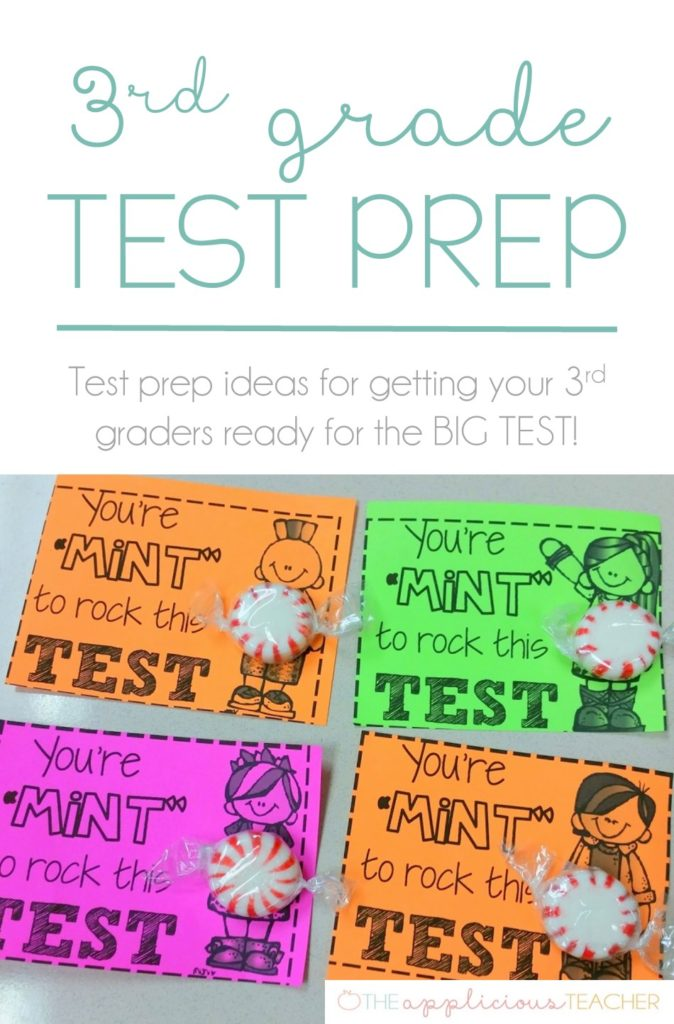 3rd grade test prep- love all the ideas in this post for getting 3rd graders ready for the big state test! TheAppliciousTeacher.com #3rdgrade #testprep