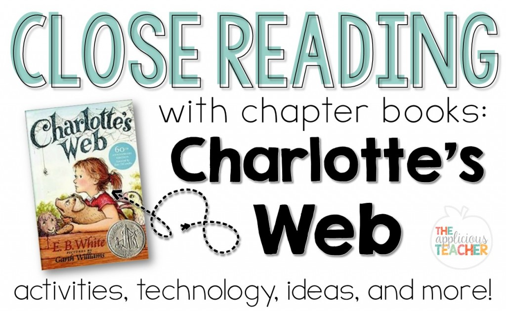 Charlotte's Web Close Reading: using the well loved book Charlotte's web as a close read. Love how she incorporates technology in this post!