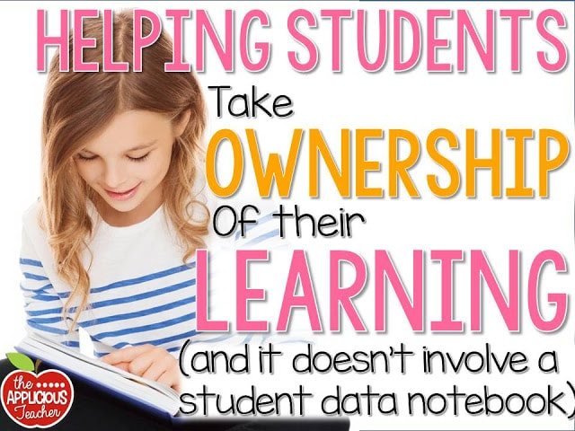 Helping students take ownership of their learning without a Student Data Notebook