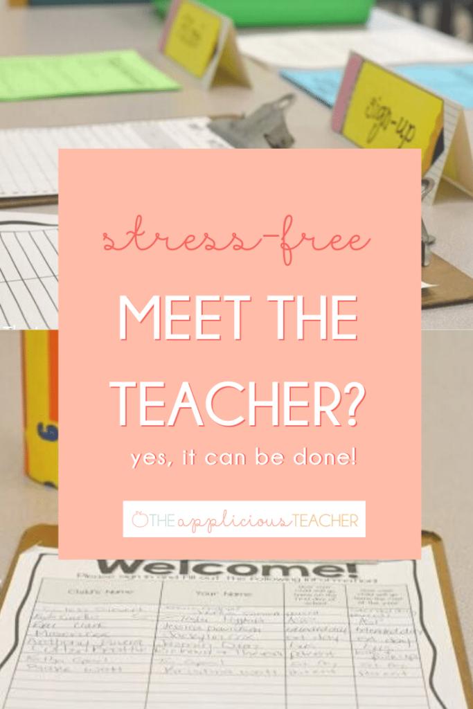 meet the teacher event