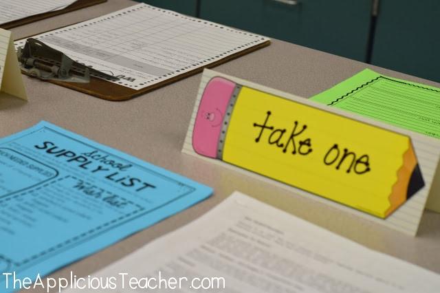 school supply list student information sheet