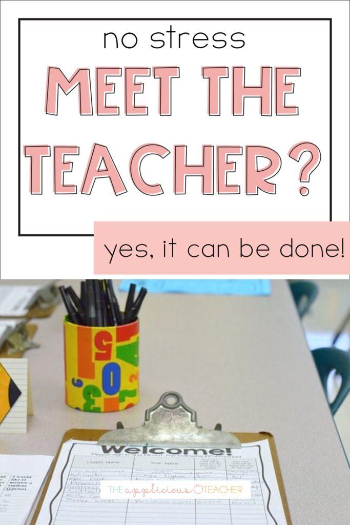 meet the teacher stress free