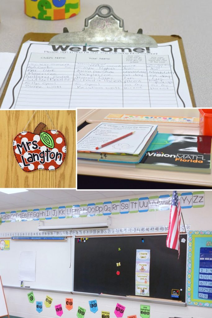 I love all these tips for setting up for Meet the Teacher-TheAppliciousTeacher.com #backtoschool