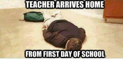 First day of school tired