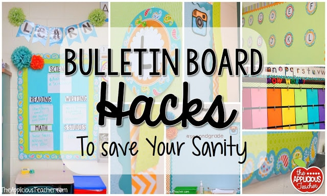 Classroom Whiteboard Decoration ~ Bulletin board hacks to save your sanity the applicious