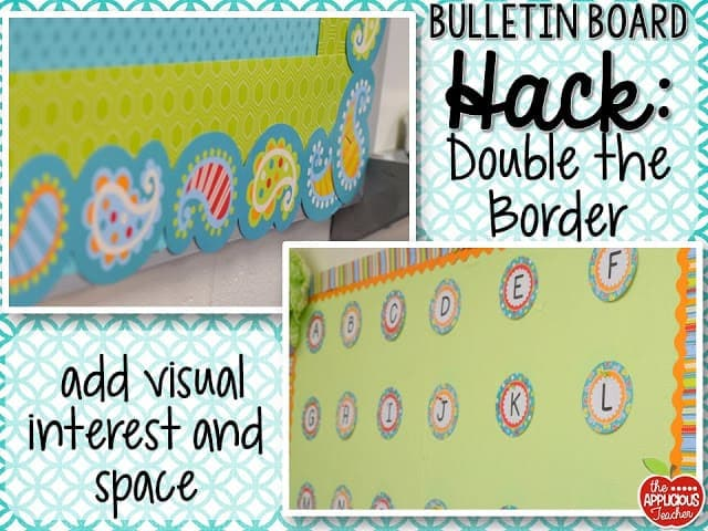 Bulletin board hack: double your border