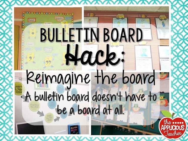 Bulletin board hack: re-imagine the board.