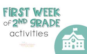 First week of 2nd grade activites-TheAppliciousTeacher.com