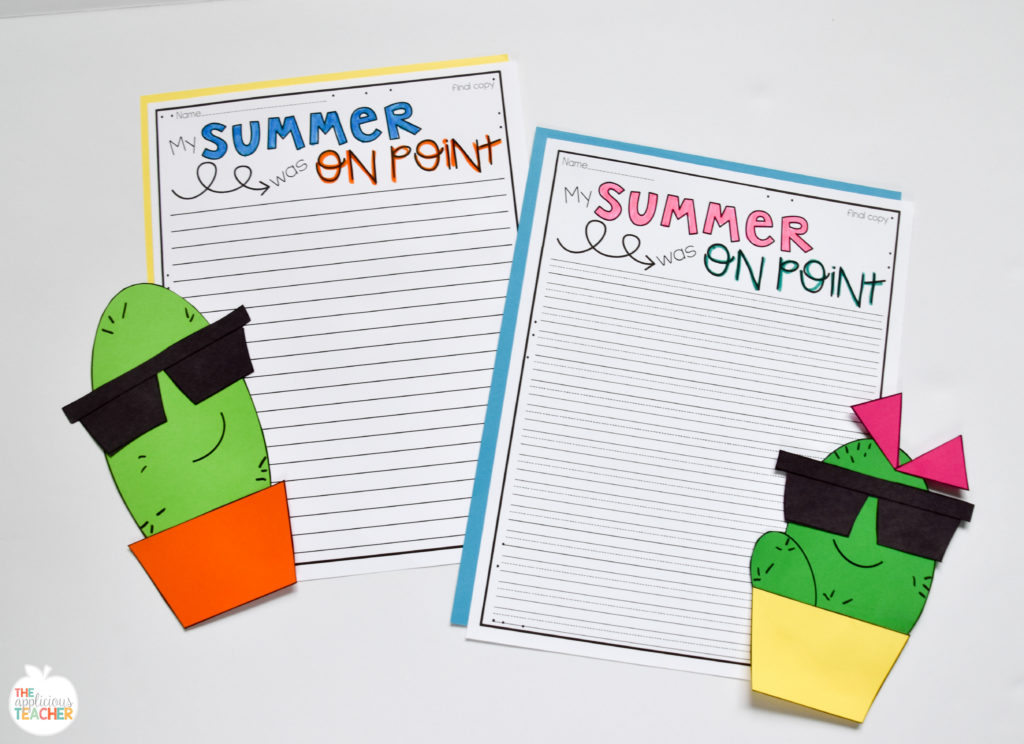 back to school summer writing