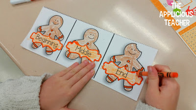 """Recounting story of """"The Gingerbread Boy"""" tri-fold"""