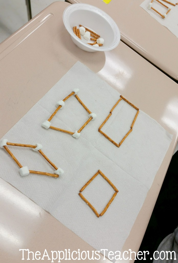 making quadrilaterals with food