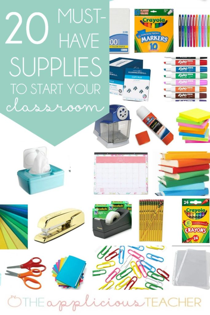 Classroom supplies must haves to start up your classroom! Great list for teachers who are just getting started and aren't sure where to begin!