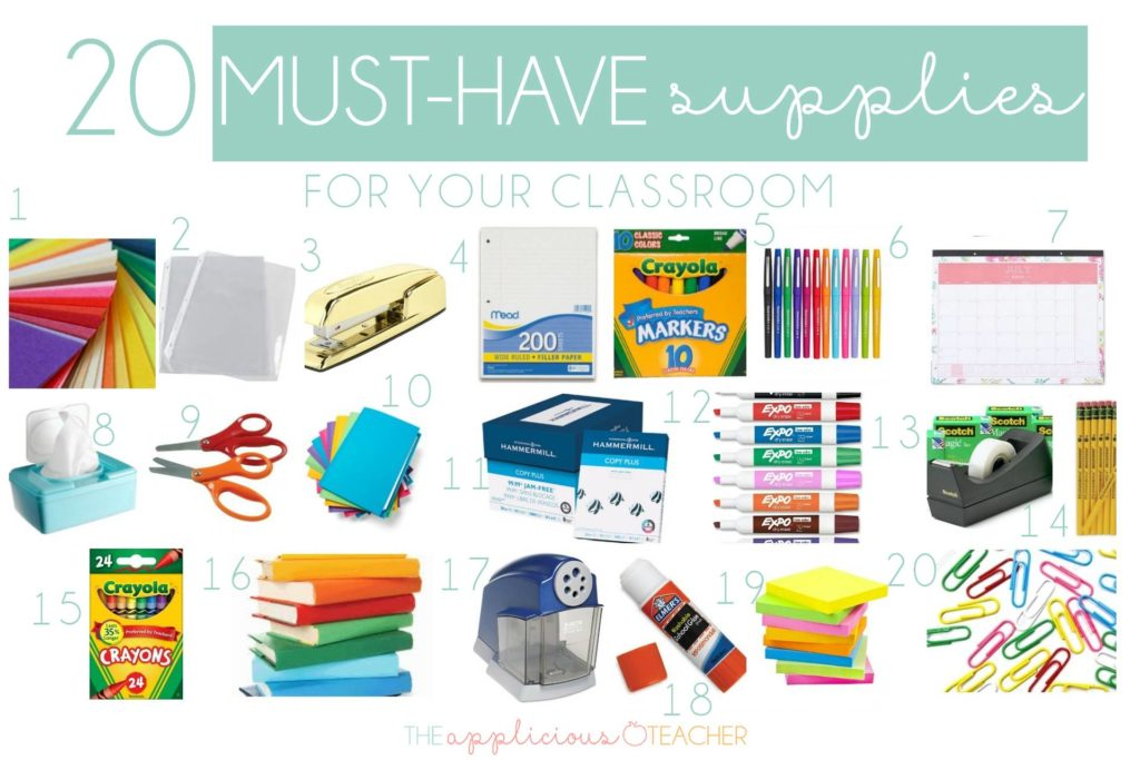 20 Must Have Supplies to Start Your Classroom that Won't Break the Bank