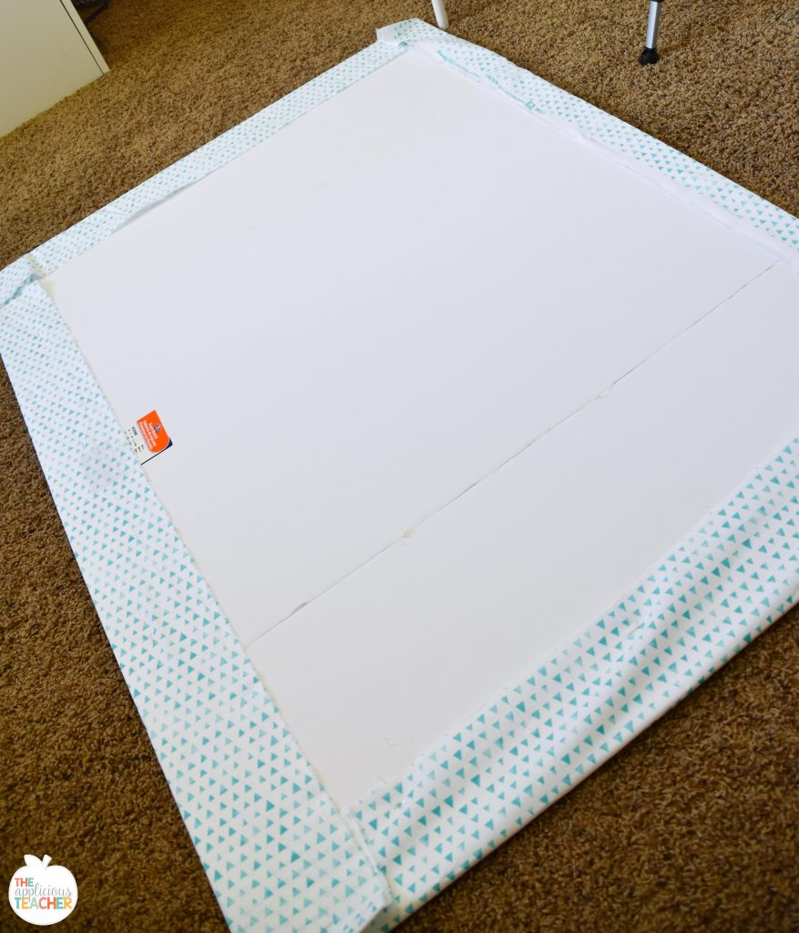 Cover board with fabric