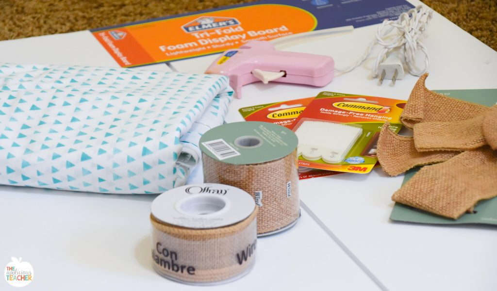 Supplies for your DIY bulletin board