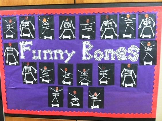 Funny Bones bulletin board. Perfect october bulletin board