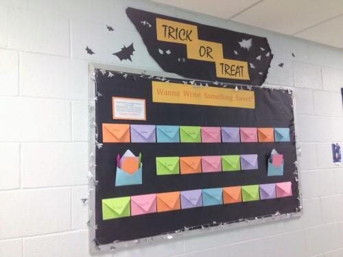 Trick or Treat writing bulletin board
