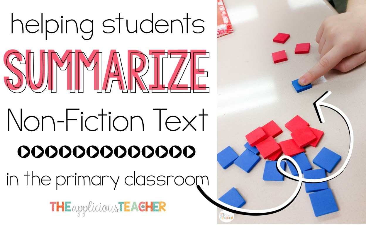 """Summarizing text is a difficult skill. This post explains the process for helping students tell the """"gist"""" of a non-fiction text."""