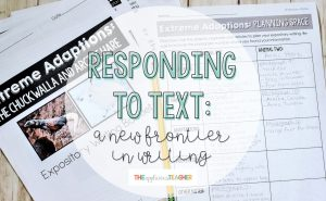 responding to text writing for 3rd 4th 5th grade