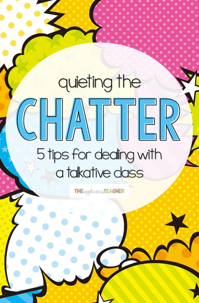 5 insightful tips for taking control of your chatty class. This post is AWESOME and includes free tools for all the suggestions!